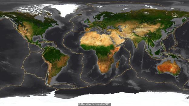 地球由几大板块构成。