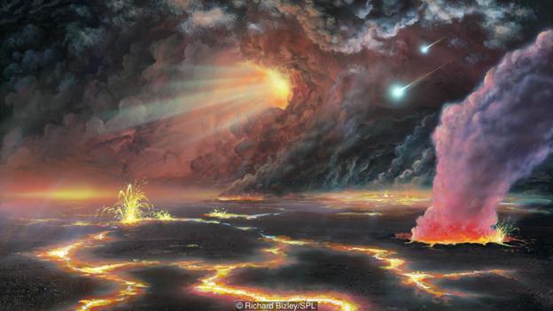 地球表面在远古时期的模样。