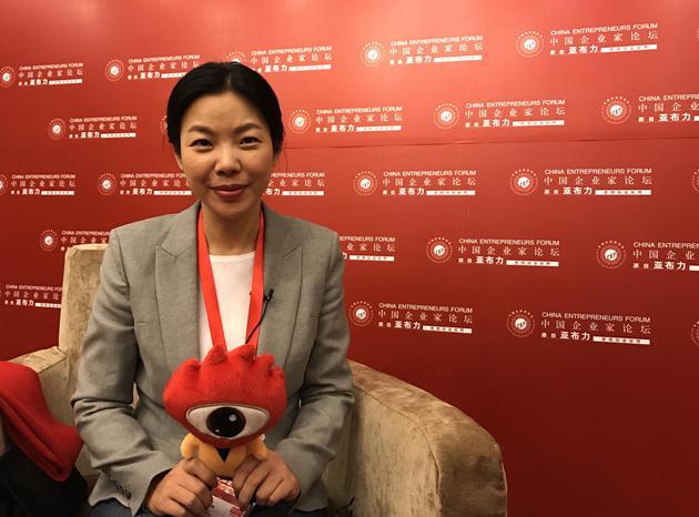 阳光印网创始人及CEO张红梅 新浪科技摄
