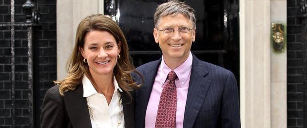 盖茨基金会创始人梅琳达·盖茨和比尔·盖茨夫妇