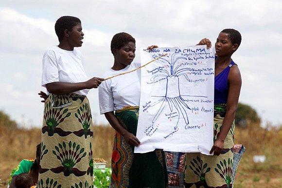 马拉维村庄中的自助小组。来源:比尔及梅琳达·盖茨基金会