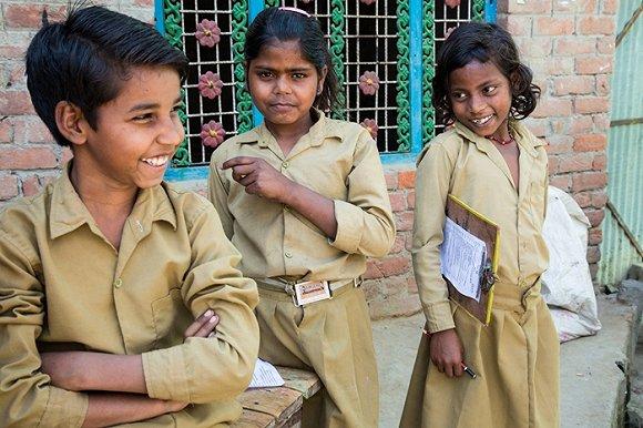 印度北方邦的学校学生。来源:比尔及梅琳达·盖茨基金会