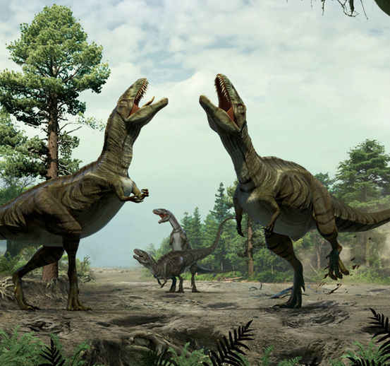 化石证据显示,有些恐龙可能会进行与今天鸟类求偶舞蹈类似的表演。