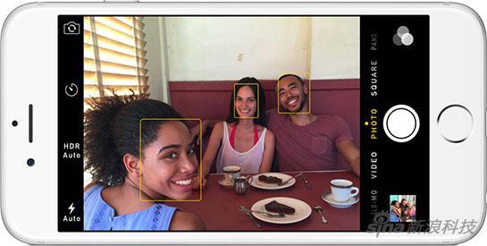 目前,iPhone在拍照时可以做到面部识别
