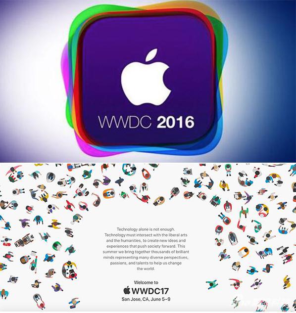 WWDC 2016和2017邀请函对比