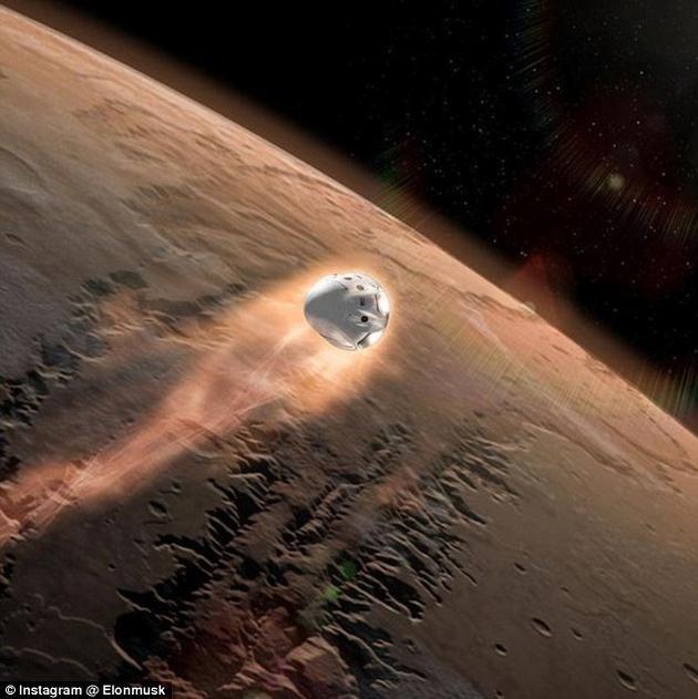 """飞往火星的""""红龙""""飞船将带有火箭驱动的""""火星上升器""""(MAV)和""""地球返回舱""""(ERV)"""