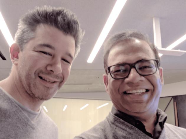 Uber CEO卡兰尼克(左)与前高级副总裁辛格尔(右)