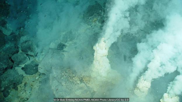 图为太平洋中的海底热泉。