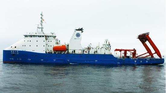 """中国科学院""""探索一号""""船。  中科院供图"""