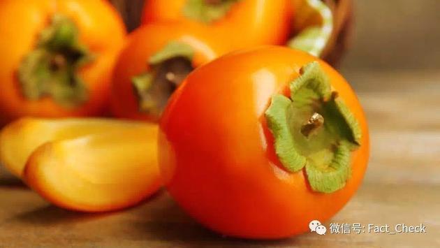 甜型柿子和脱涩之后的柿子,单宁含量都不足为虑