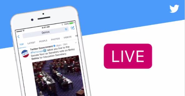 Twitter即将向企业和媒体开放视频直播API