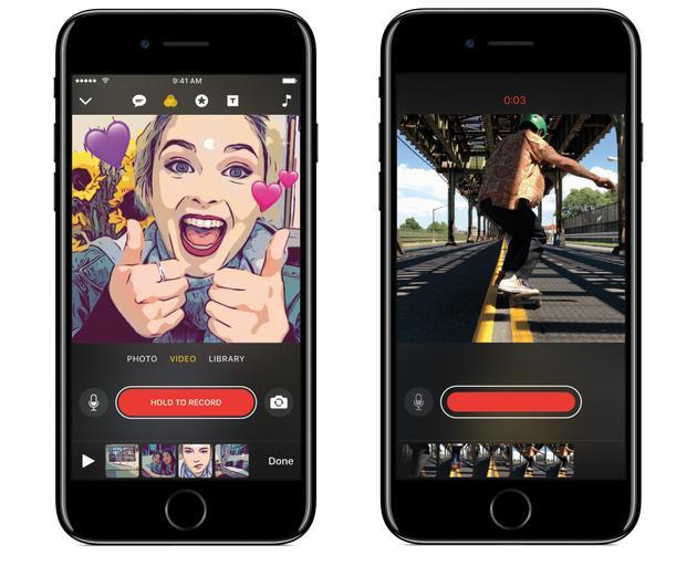 除了发布红色iPhone 苹果昨晚还推出一款视频制作App