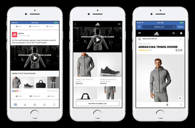 Facebook推新广告形式:品牌一边讲故事一边卖东西