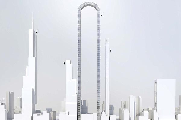 纽约将建1219米U型摩天大楼 或为世界最长建筑