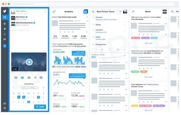 Twitter考虑推出管理工具TweetDeck付费版