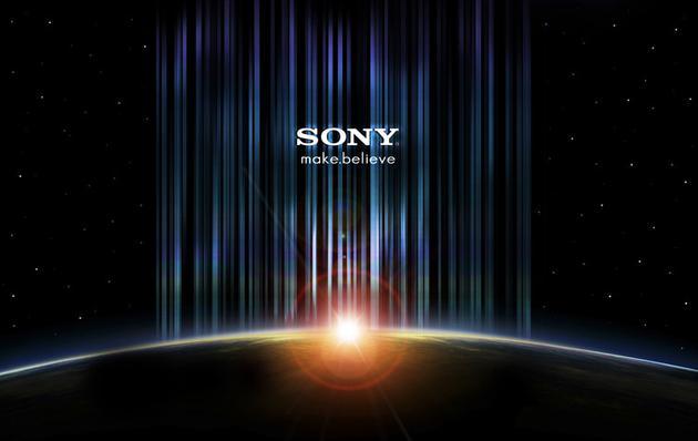 "Sony的logo下通常带着他们的slogan""创造·相信"""