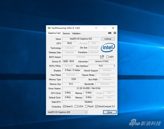 内建HD 620核芯显卡