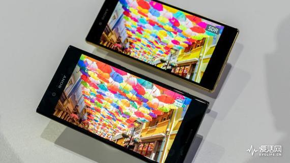 上:手机下的SDR画面;下:索尼Xperia XZ Premium下的HDR画面