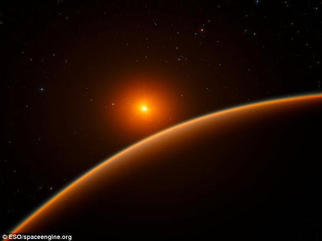 系外行星LHS 1140b艺术想象图:它有可能是天文学家们搜寻地外生命最佳的候选目的地之一