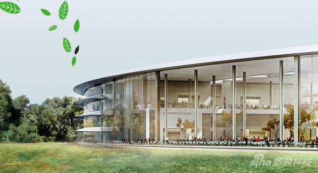 苹果公园设计的的同时就考虑到了环保