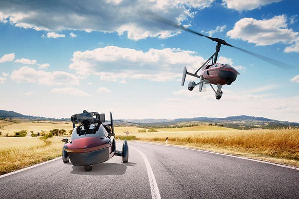 三轮车都能上天飞而且还不慢