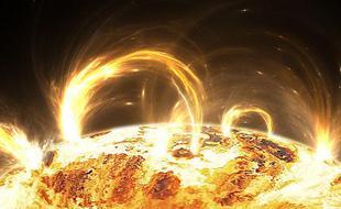 太阳风暴可能消除大气层部分电子