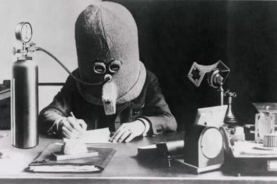 """百年前奇葩发明""""隔离头盔""""重现生机 可防分心走神"""