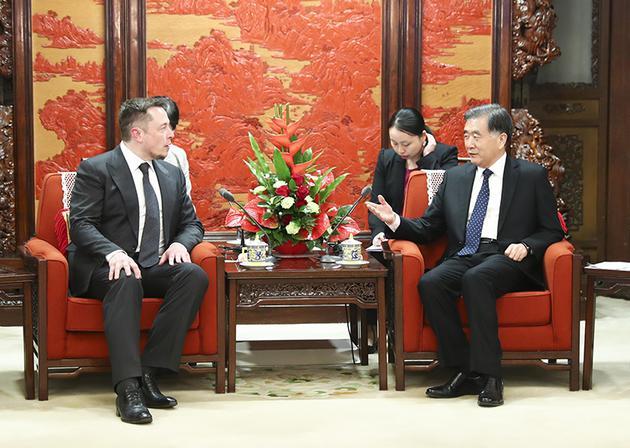 国务院副总理汪洋会见特斯拉董事长马斯克