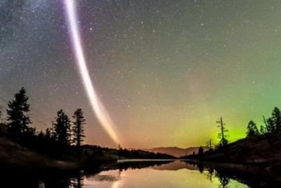 """国外夜空现罕见""""奇光"""" 科学家:系新大气现象(图)"""
