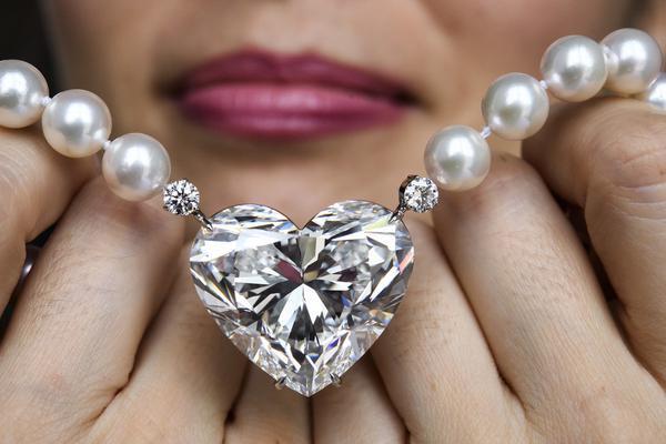 世界最大心形钻石即将拍卖 重92克拉估值达1.4亿元