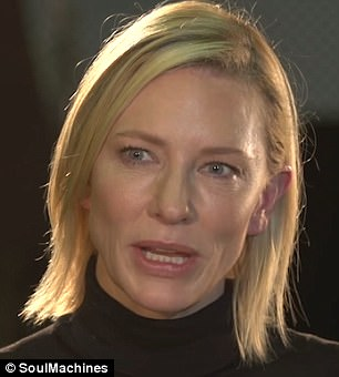 """""""Nadia""""是一个由好莱坞女演员凯特·布兰切特(如图)配音的虚拟助手。"""