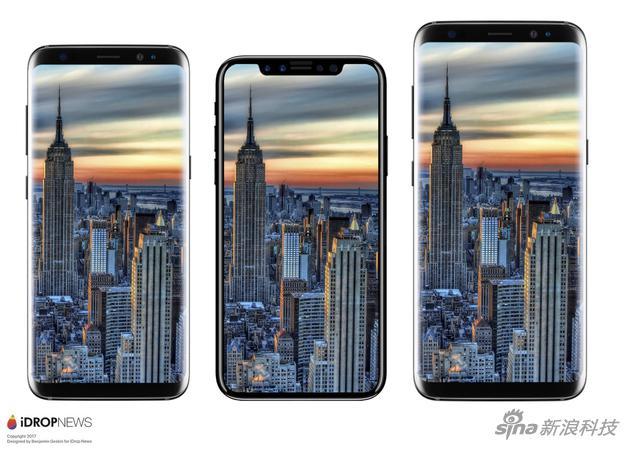 """将""""iPhone 8""""和三星S8和S*+对比"""