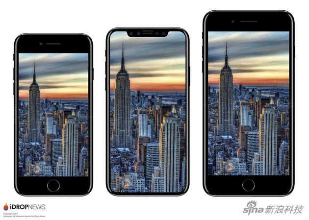 "将""iPhone 8""和iPhone 7和iPhone 7 Plus对比"
