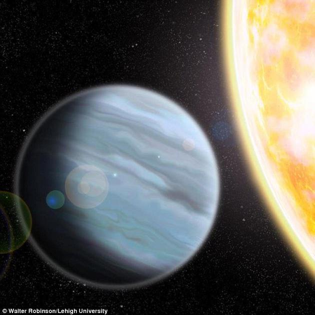 """来自美国3所大学的研究人员发现Kelt-11b,这颗""""聚苯乙烯泡沫塑料行星""""环绕一颗明亮恒星运行。它将成为勘测类地行星大气层的黄金标准"""