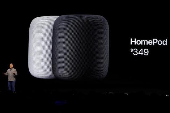 2017年6月5日,美国加州圣何塞,苹果在年度全球开发者大会发布HomePod。 REUTERS/Stephen Lam