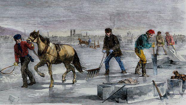 """在人工制冰技术出现之前,如果新英格兰州的冬天变得温和,就有可能导致一场""""冰荒""""。"""