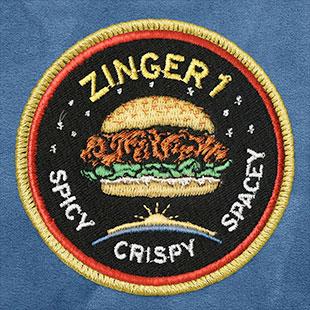 肯德基Zinger 1任务的臂章