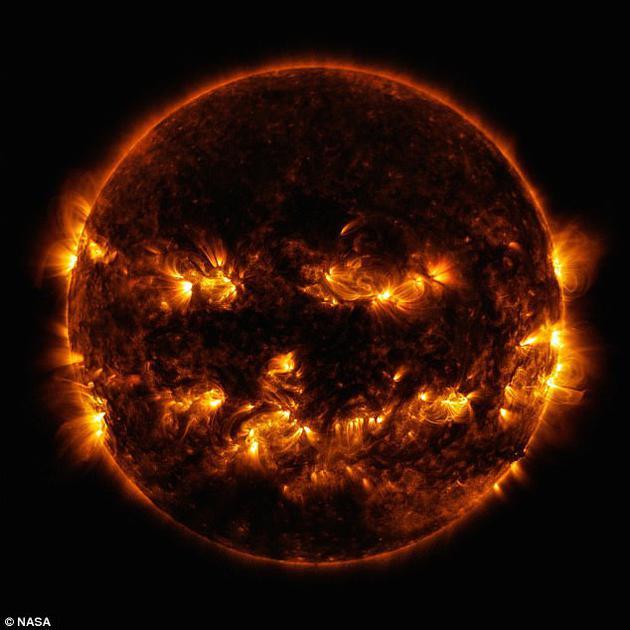 科学家首次发现了涅墨西斯星可能存在于宇宙某处的证据。图中显示了太阳表面活跃的区域。