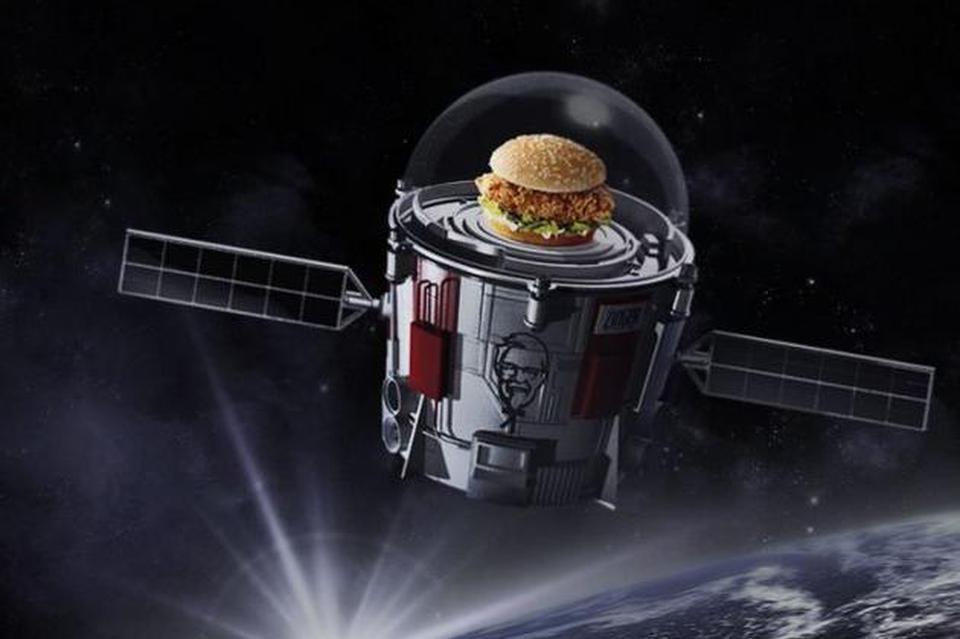 肯德基上天了!劲脆鸡腿堡的廉价太空旅行即将启程