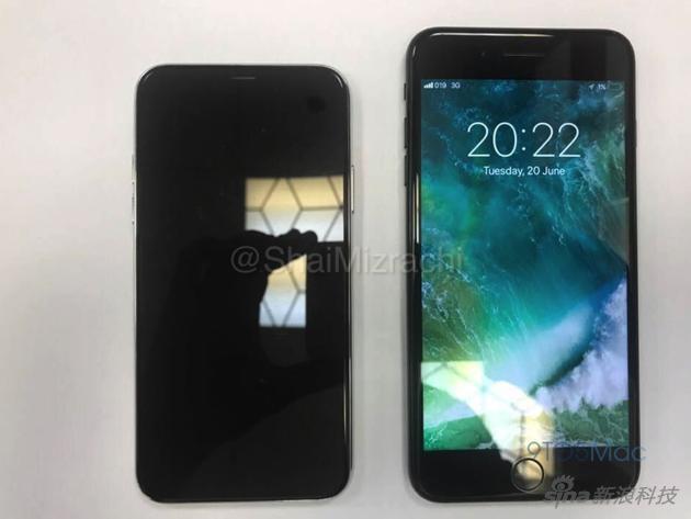 iPhone 8机模与现有的7 Plus对比
