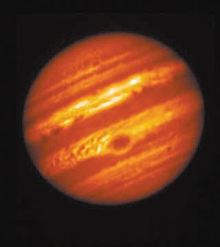 大红斑 夏威夷昴星光学望远镜拍摄的木星图像图片来源:NASA官网