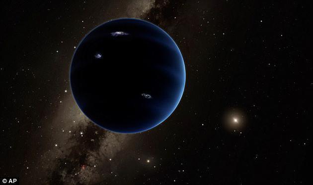 使用一项最新技术可以降低观测偏差,西班牙天文学家发现一颗神秘天体与太阳的距离是300多个天文单位,事实上,这颗行星能够改变海王星之外天体的运行轨迹。图中是艺术家描绘的太阳系第九行星。