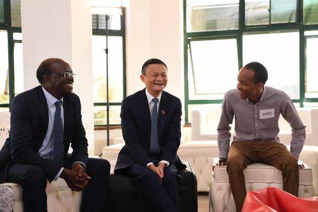 马云与肯尼亚创业者停止交换