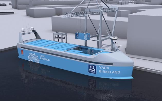 """""""海上特斯拉"""":全球首款无人货船预计2018年下水"""