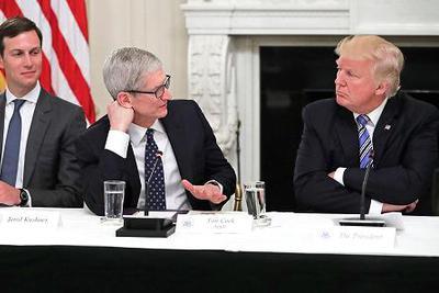 特朗普:库克承诺苹果会在美国建3座工厂 促进就业