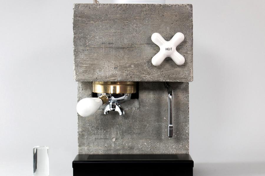 用混凝土造浓缩咖啡机,这效果简直不能再美