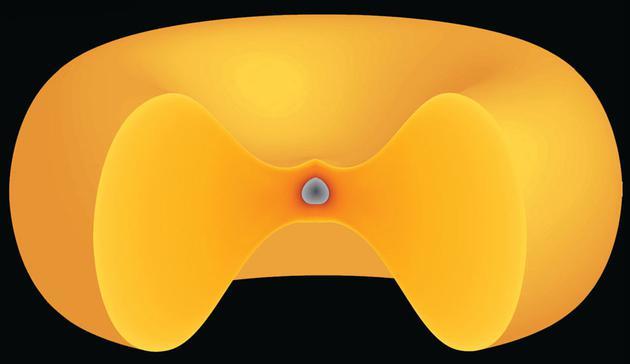 synestia理论认为,类似百吉饼的蒸汽岩石云环绕着一颗岩石行星。