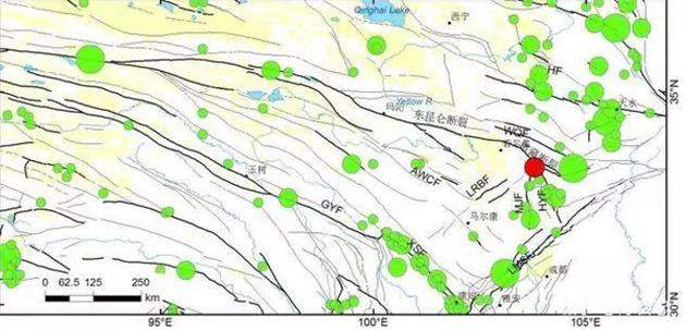 图1 九寨沟地震地质构造背景