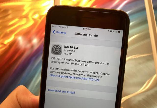苹果关闭iOS 10.3.2系统验证通道