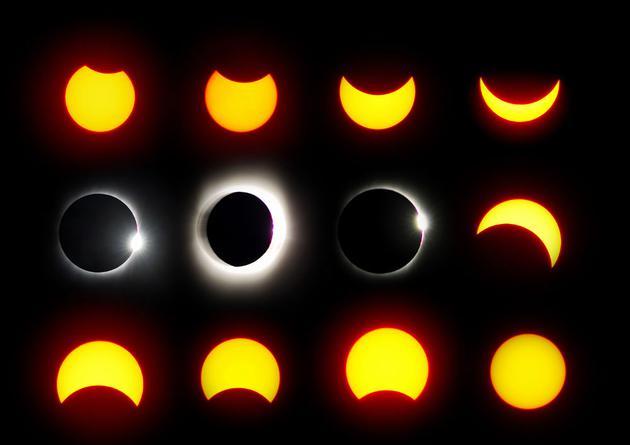 """月球正在缓慢地远离地球,因此在遥远的未来,月球的体积将逐渐变小,不足以完全覆盖太阳,至少从地球的观测视角。这意味着未来有一天,月球将无法产生日全食现象,但仅有日环食,在这一情况下,太阳的""""环""""仍清晰可见。专家推测地球将在6亿年后最后一次观看到日全食。"""
